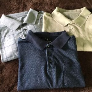 Lot of three polo style men's shirts